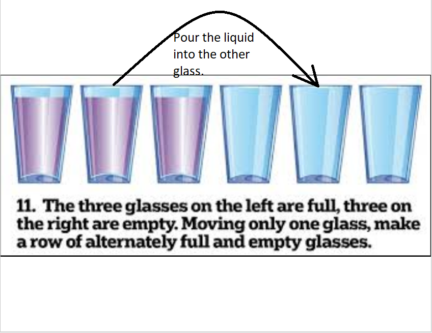 3 glasses answer
