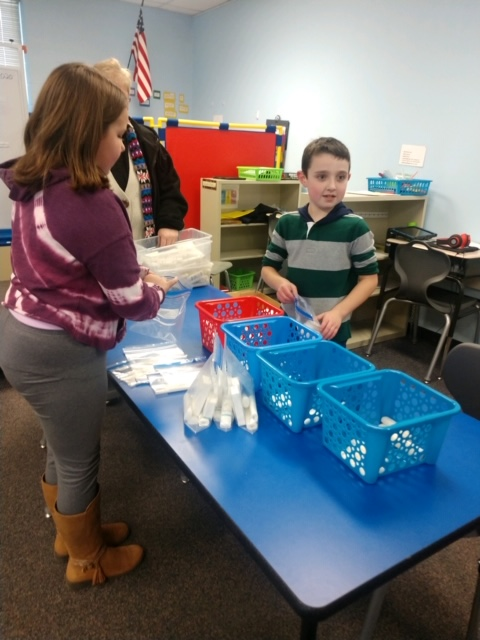 Walt Disney students put together toiletry bags