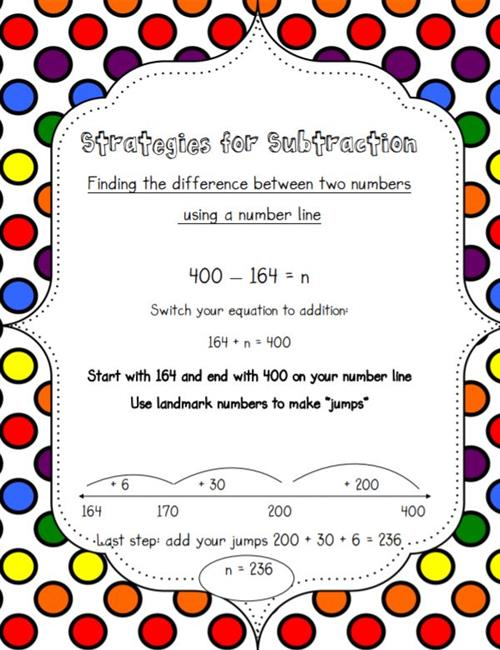 Subtraction Finding the difference between two numbers