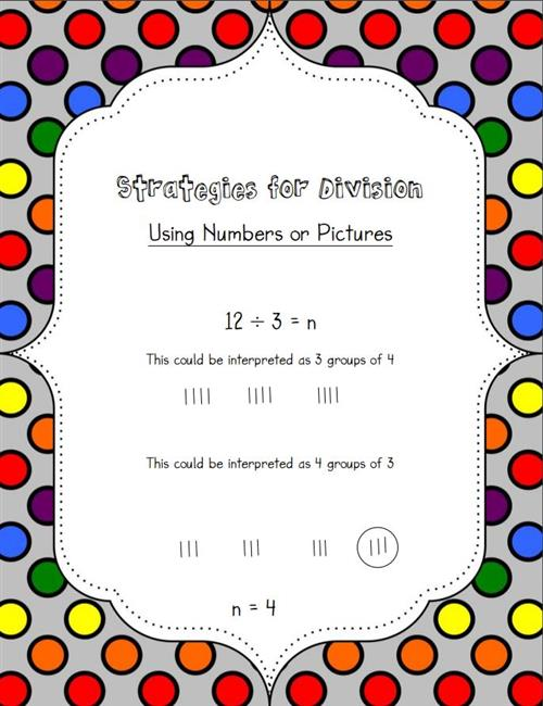 Division Using Numbers or Pictures