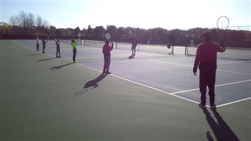 Outdoor Fall Tennis Unit